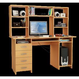 Стол компьютерный Милан-6П, с полкой и надставкой