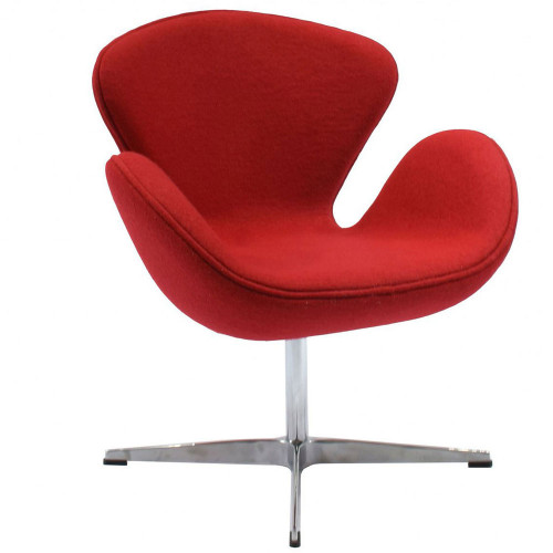 Кресло SWAN CHAIR красный кашемир FR 0001