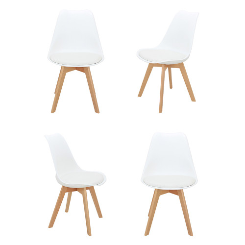 Комплект из 4-х стульев Eames Bon белый FR 0023K