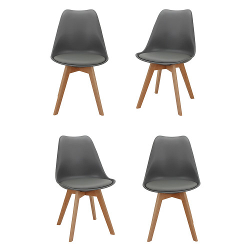 Комплект из 4-х стульев Eames Bon серый FR 0025K