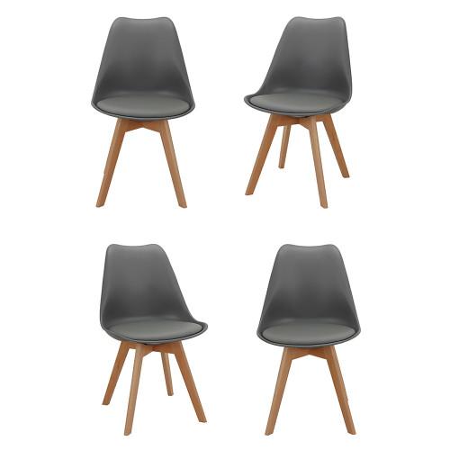 Комплект из 4-х стульев Eames Bon латте FR 0216K