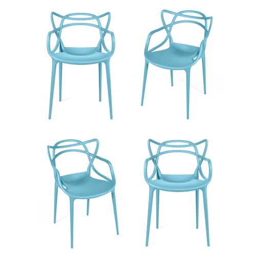 Комплект из 4-х стульев Masters бирюзовый FR 0189K