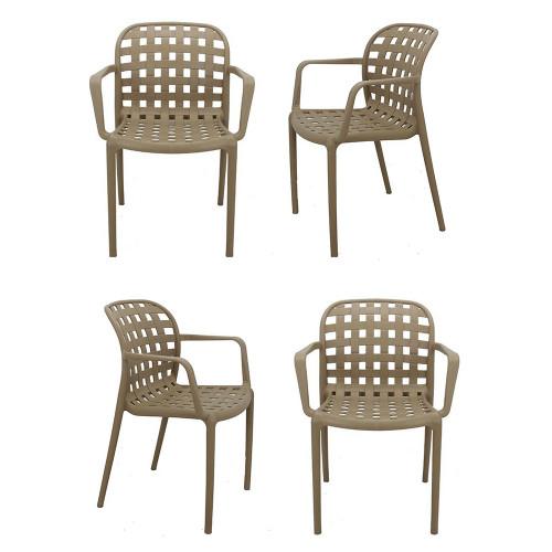 Комплект из 4-х стульев Olimpia L латте FR 0196K