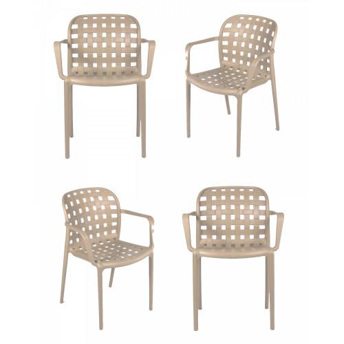 Комплект из 4-х стульев Olimpia L кремовый FR 0197K