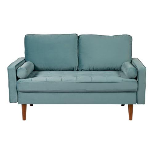 Диван Scott двухместный серо-голубой FR 0476