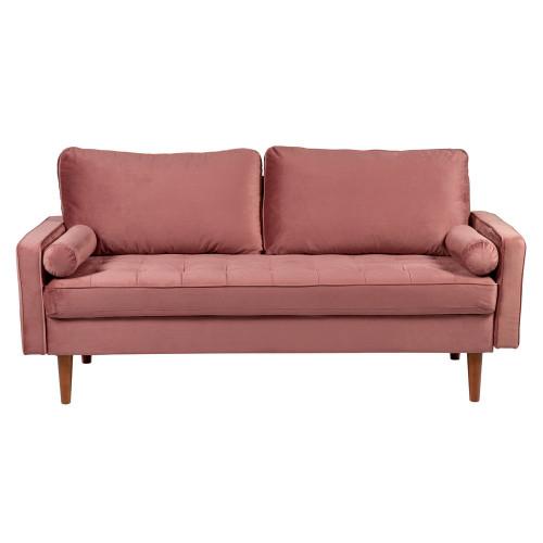 Диван Scott трехместный пыльно-розовый FR 0477