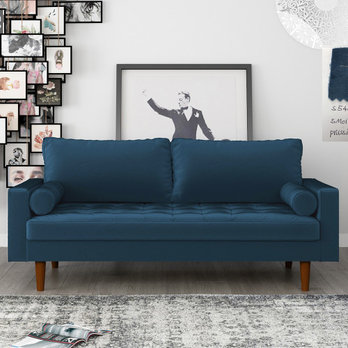Диван Scott трехместный синий FR 0479