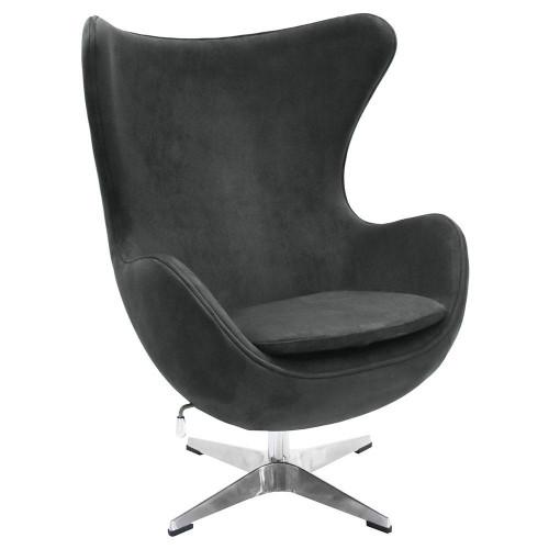 Кресло EGG CHAIR графит, искусственная замша FR 0642