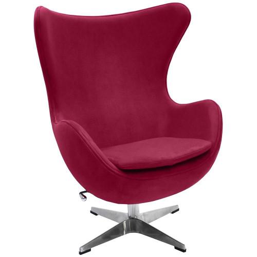 Кресло EGG CHAIR винный, искусственная замша FR 0643
