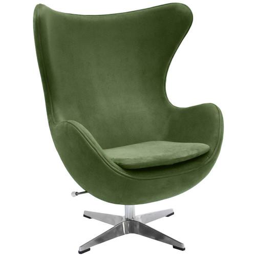 Кресло EGG CHAIR зеленый, искусственная замша FR 0644
