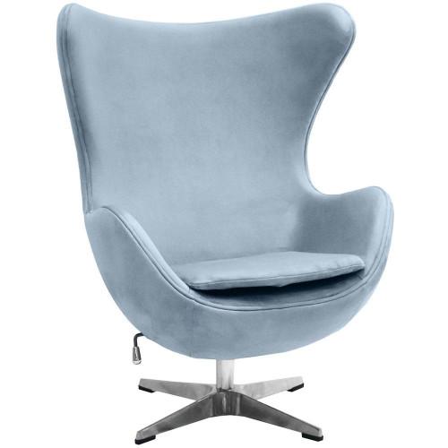 Кресло EGG CHAIR серый, искусственная замша FR 0645