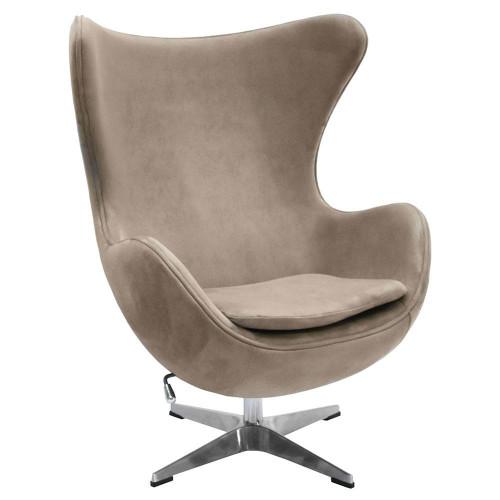Кресло EGG CHAIR латте, искусственная замша FR 0647