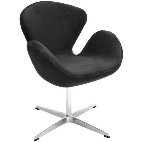 Кресло SWAN CHAIR графит, искусственная замша FR 0650