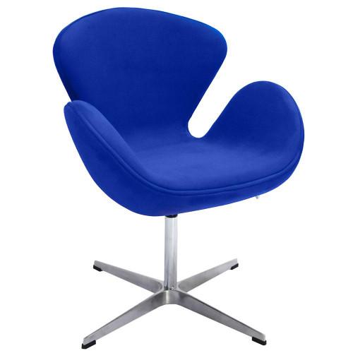 Кресло SWAN CHAIR синий, искусственная замша FR 0652