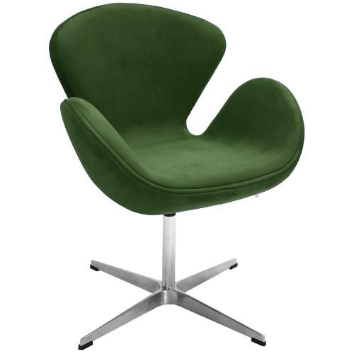 Кресло SWAN CHAIR зеленый, искусственная замша FR 0653