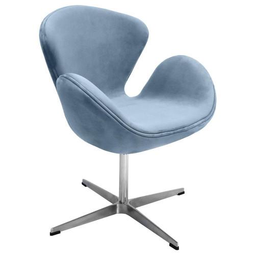 Кресло SWAN CHAIR серый, искусственная замша FR 0654