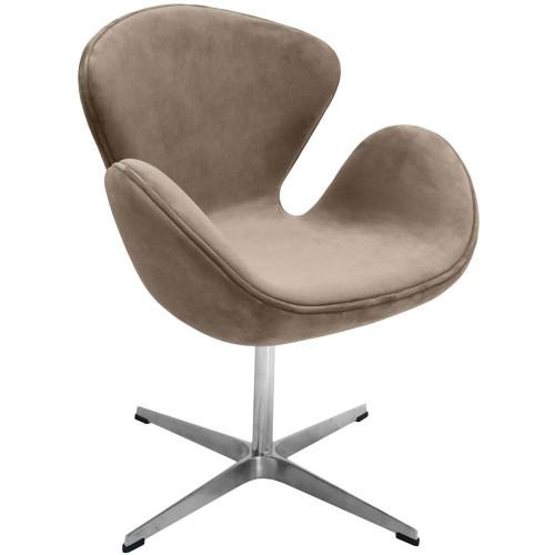 Кресло SWAN CHAIR латте, искусственная замша FR 0656