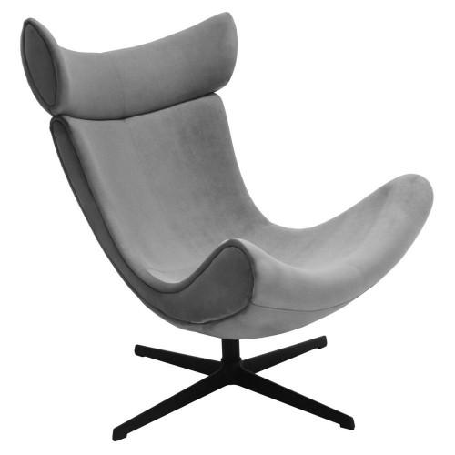 Кресло IMOLA серый, искусственная замша FR 0664