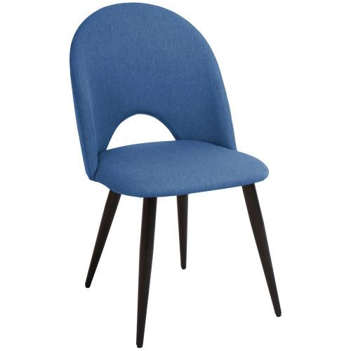 Стул Cleo голубой с черными ножками FR 0532