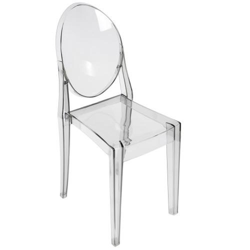 Стул Victoria Ghost прозрачный серый FR 0035