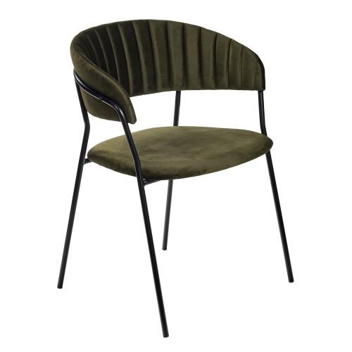 Стул Turin зеленый с чёрными ножками FR 0765