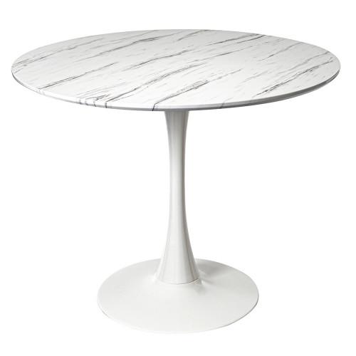 Стол Tulip белый мрамор, 90см FR 0406