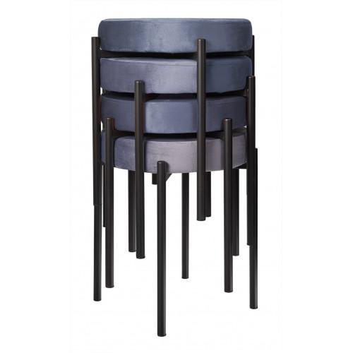 Комплект стульев-табуретов Bug серый FR 0551K
