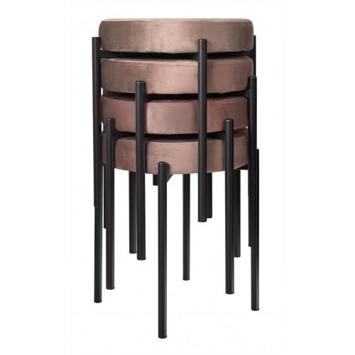 Комплект стульев-табуретов Bug латте FR 0552K