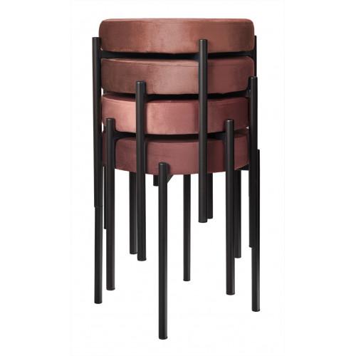 Комплект стульев-табуретов Bug коралловый FR 0553K