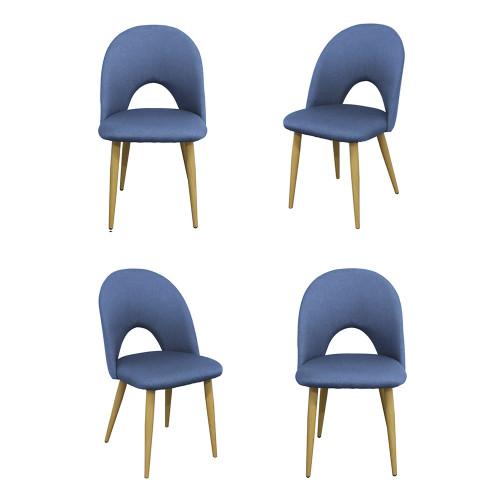 Комплект из 4-х стульев Cleo голубой FR 0531K