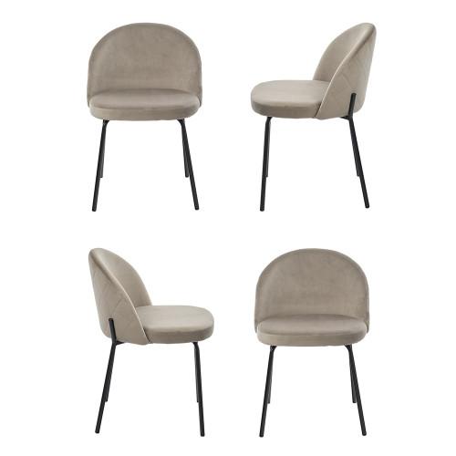 Комплект из 4-х стульев Oliver латте FR 0407K