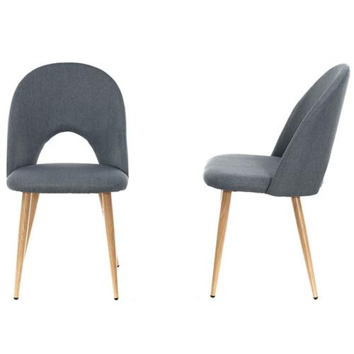 Комплект из 2-х стульев Cleo сине-серый FR 0252P
