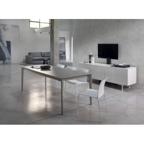 Стол DOTO (20.10) M306/ M306 белый/ С180S TOP+EXT velvet white