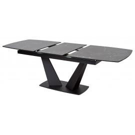 Стол ACUTO2 170 NERO KL-116 Черный мрамор матовый, итальянская керамика/ черный каркас М-City