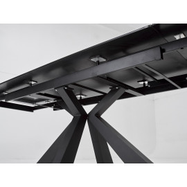 Стол ALEZIO 160 BIANCO TL-45 Белый мрамор матовый, испанская керамика/ черный каркас М-City
