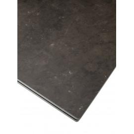 Стол ALTO 160 KL-135 Серо-коричневый мрамор матовый, итальянская керамика/ BLACK  М-City
