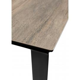 Стол CREMONA 160 KL-61 под дерево, итальянская керамика/ черный каркас М-City