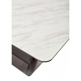 Стол OSVALD 160 MARBLES KL-99 Белый мрамор, итальянская керамика М-City
