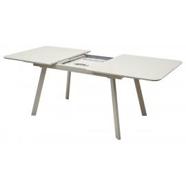 Стол ARUBA 160 CAPPUCСINO/CAPPUCСINO глянцевое стекло М-City