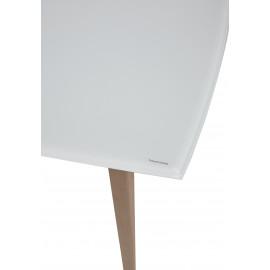 Стол ELIOT 140 Super white glass+Wood М-City