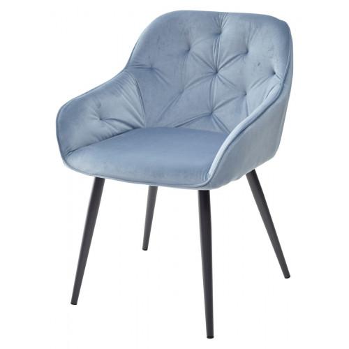 Стул BREEZE G108-56 пудровый синий/темно-серый каркас, велюр М-City