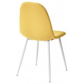 Стул CASSIOPEIA G064-25 желтый, ткань/ белый каркас  М-City