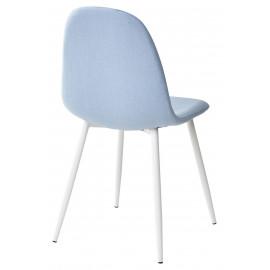 Стул CASSIOPEIA G064-38 серо-голубая ткань/ белый каркас  М-City