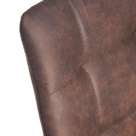 Стул CHILLI PK-03 коричневый, ткань микрофибра M-City