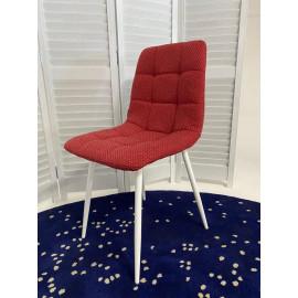 Стул CHILLI TRF-04 красный, ткань / белый каркас М-City