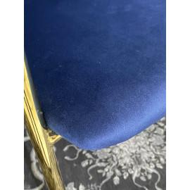 Стул DILL BLUVEL-86 NAVY BLUE, велюр/ золотой каркас, М-City
