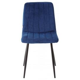 Стул DUBLIN G062-49 синий, велюр/ черный каркас М-City