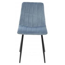 Стул DUBLIN G108-56 пудровый синий/ черный каркас, велюр М-City