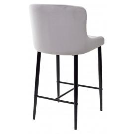 Полубарный стул ARTEMIS серый, велюр G108-33 (H=65cm) М-City