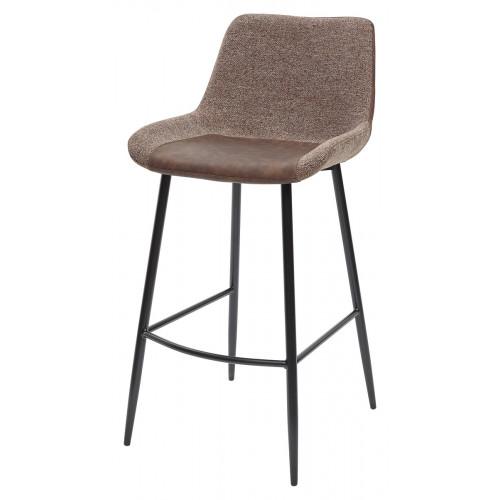 Барный стул BIARRITZ BAR BROWN, ткань M-City